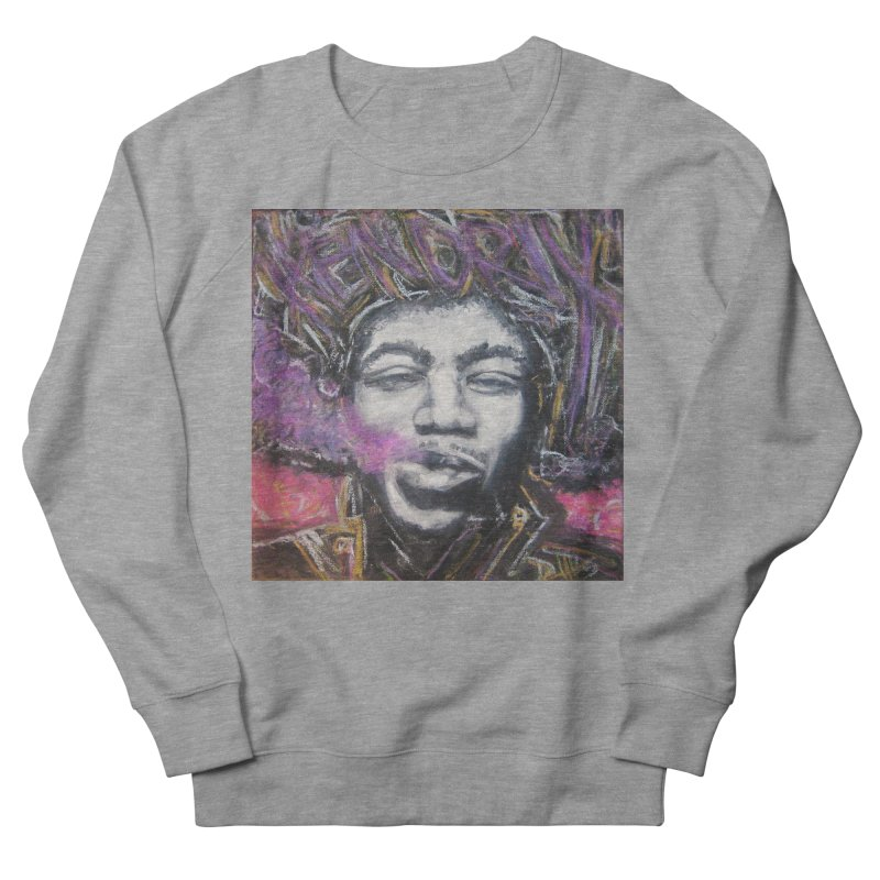 Purple Haze Men's French Terry Sweatshirt by Brick Alley Studio's Artist Shop
