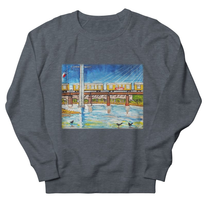 Train at Trinity Trail Men's Sweatshirt by Brick Alley Studio's Artist Shop