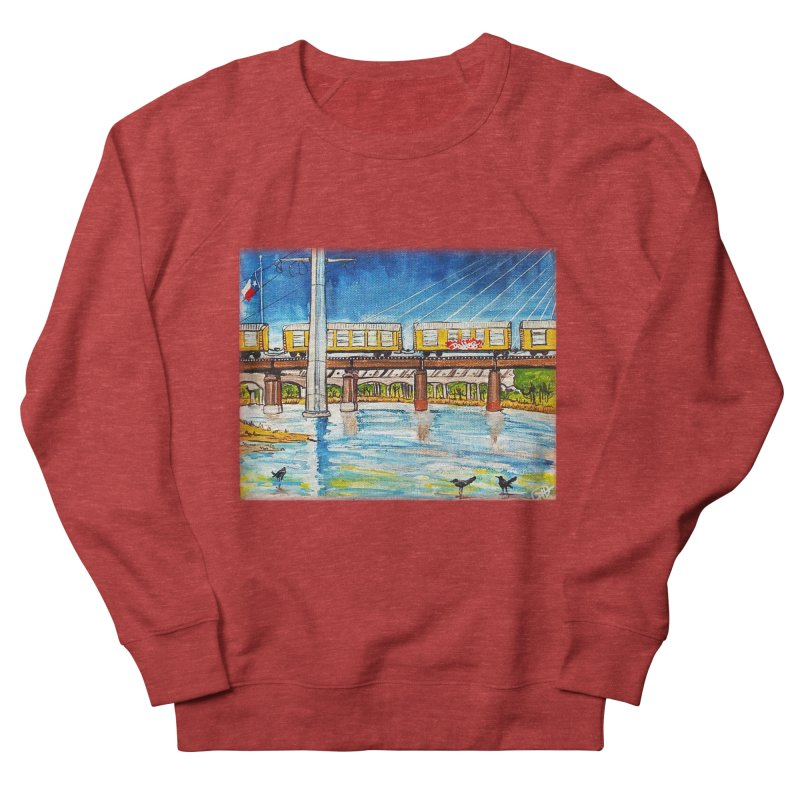Train at Trinity Trail Men's Sweatshirt by Brick Alley Studio's Artist Shop