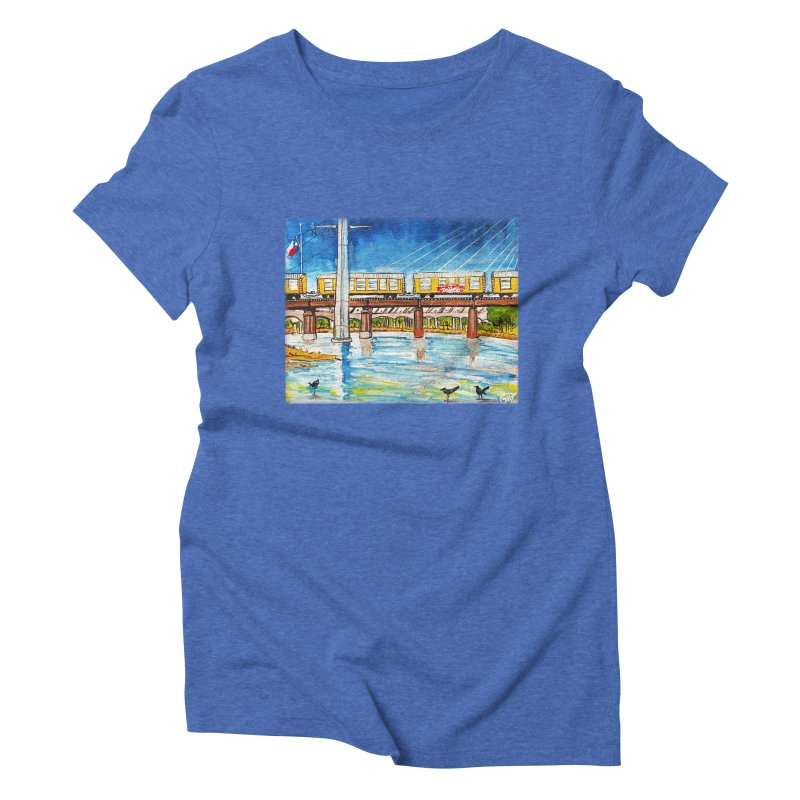 Train at Trinity Trail Women's Triblend T-shirt by Brick Alley Studio's Artist Shop