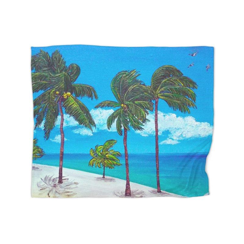 Varadero Beach Home Fleece Blanket Blanket by Brick Alley Studio's Artist Shop