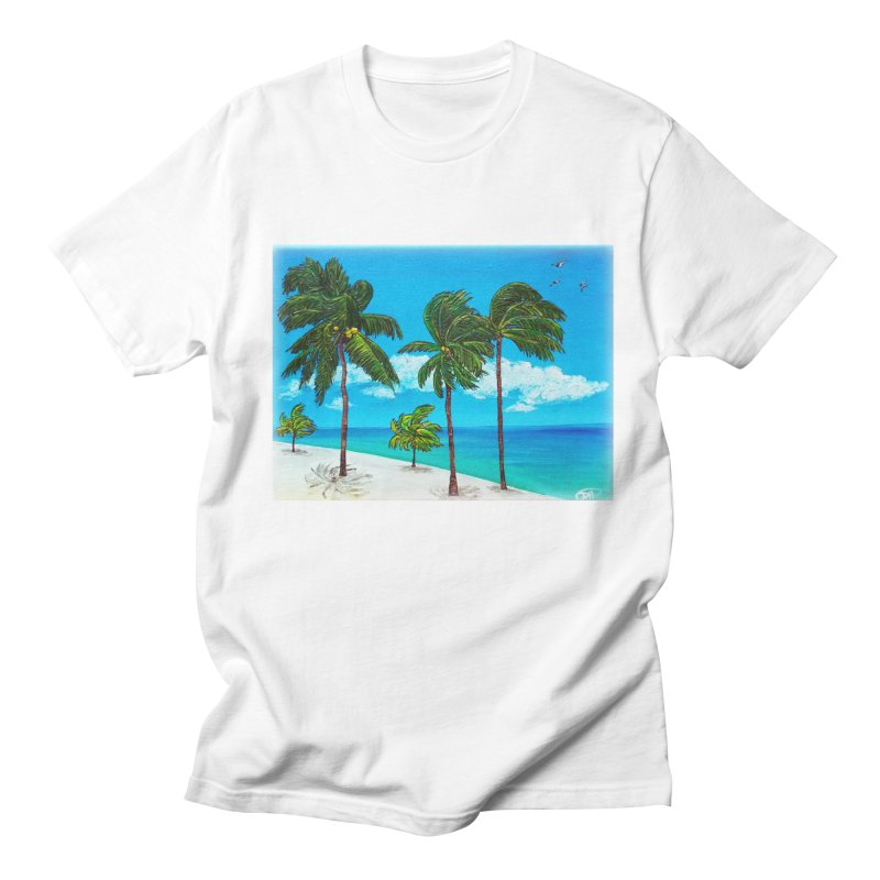 Varadero Beach Men's Regular T-Shirt by Brick Alley Studio's Artist Shop
