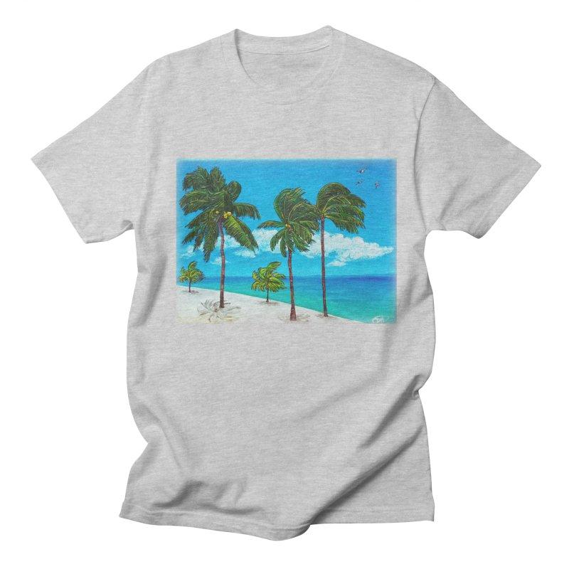 Varadero Beach Men's Regular T-Shirt by Brick Alley Studio's Artist Shop