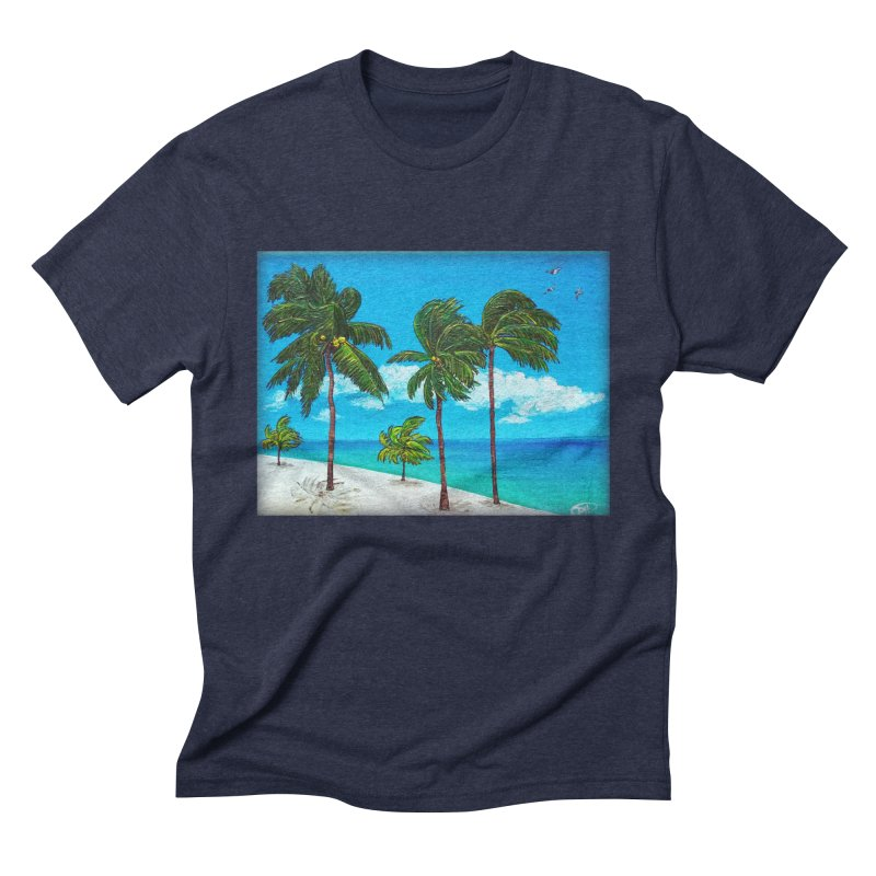 Varadero Beach Men's Triblend T-Shirt by Brick Alley Studio's Artist Shop