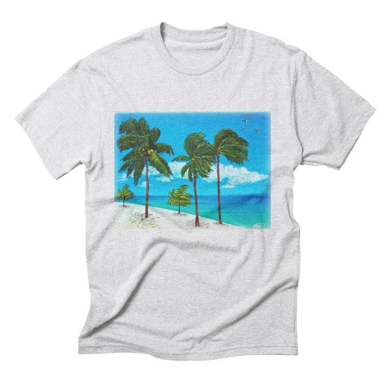 Varadero Beach Men's Triblend T-Shirt by Brick Alley Studio's Artist Shop