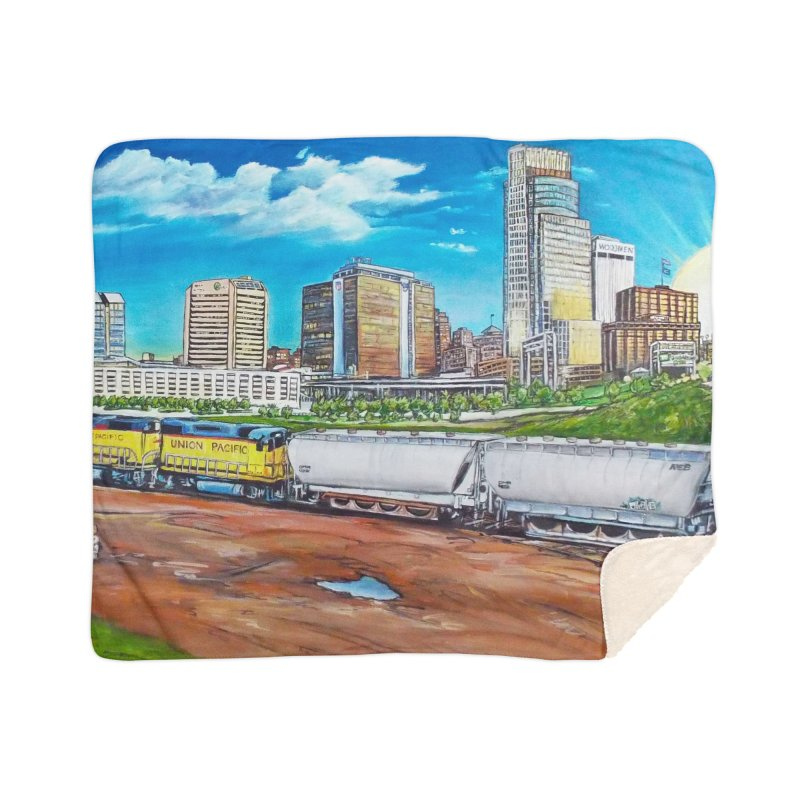 Riverfront Drive Home Sherpa Blanket Blanket by Brick Alley Studio's Artist Shop