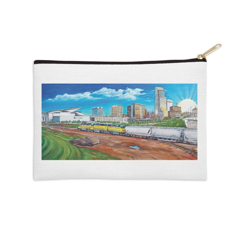 Riverfront Drive Accessories Zip Pouch by Brick Alley Studio's Artist Shop