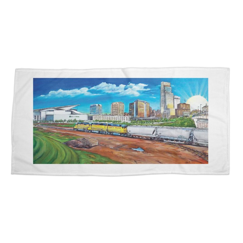 Riverfront Drive Accessories Beach Towel by Brick Alley Studio's Artist Shop