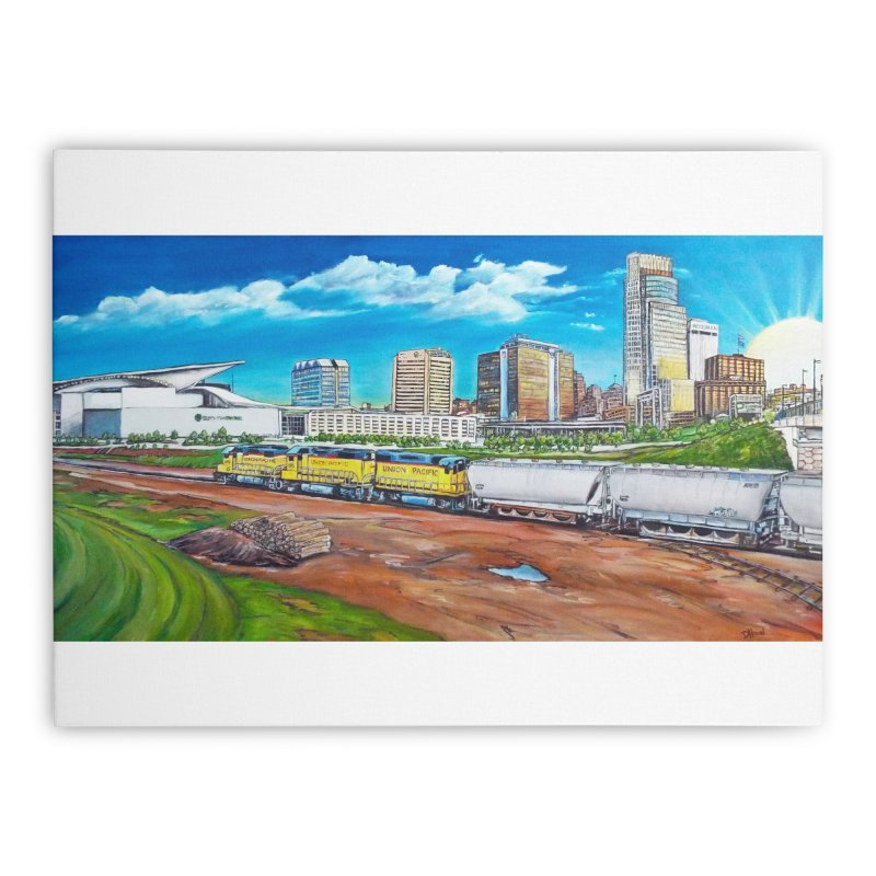 Riverfront Drive Home Stretched Canvas by Brick Alley Studio's Artist Shop