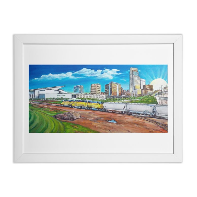 Riverfront Drive Home Framed Fine Art Print by Brick Alley Studio's Artist Shop
