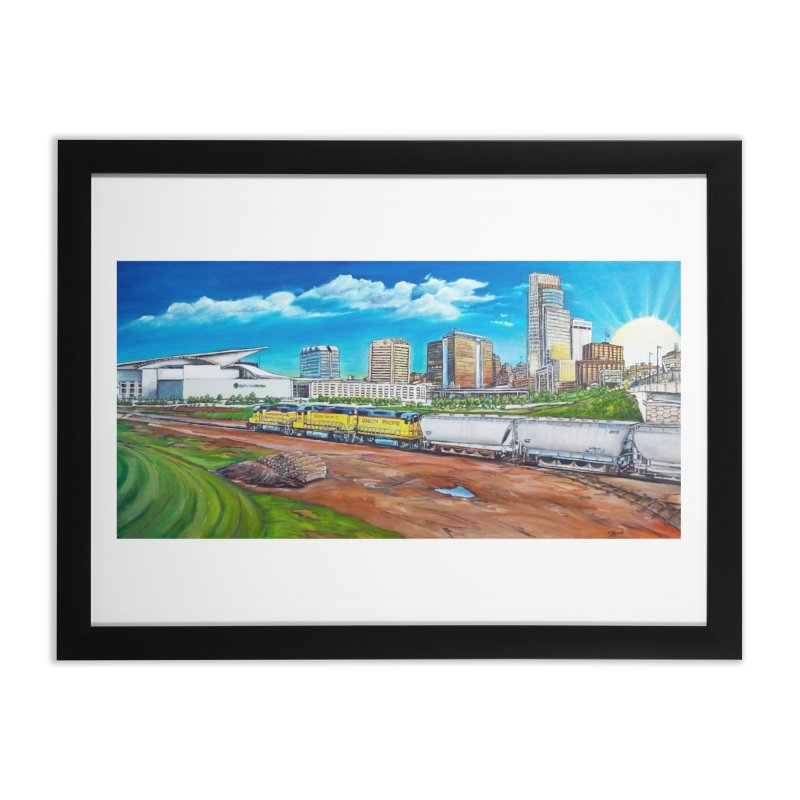 Riverfront Drive Home Framed Fine Art Print by Brick Alley Studio's Artist Shop