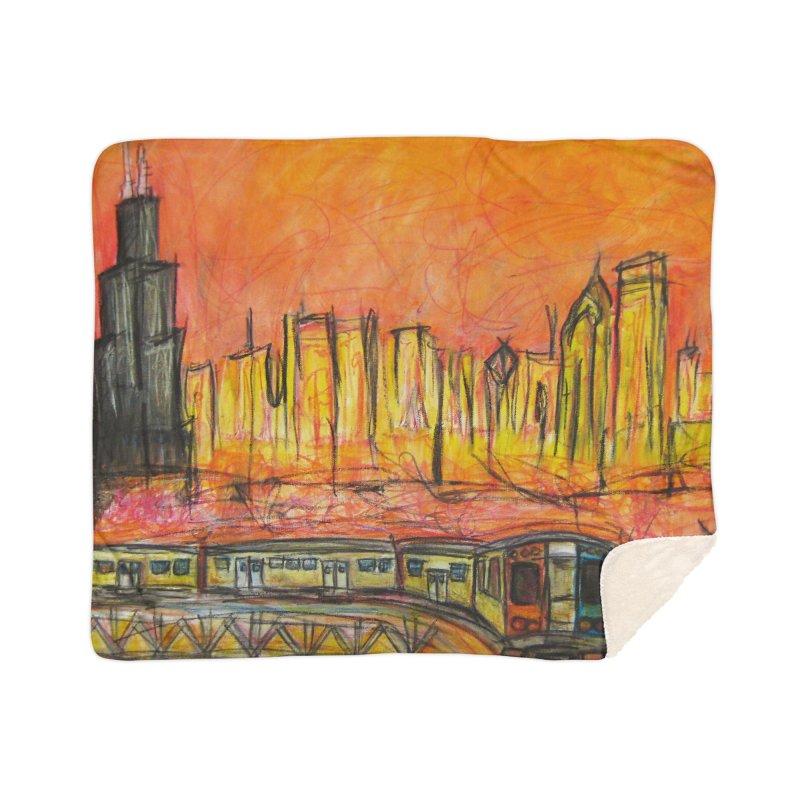 Elevated Under Chicago Home Sherpa Blanket Blanket by Brick Alley Studio's Artist Shop