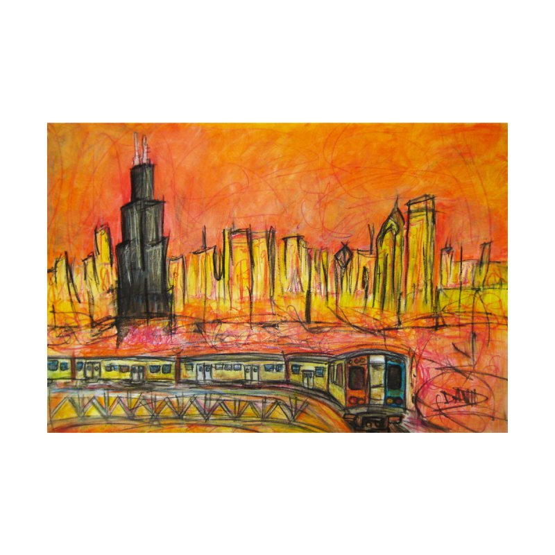 Elevated Under Chicago Home Mounted Aluminum Print by Brick Alley Studio's Artist Shop