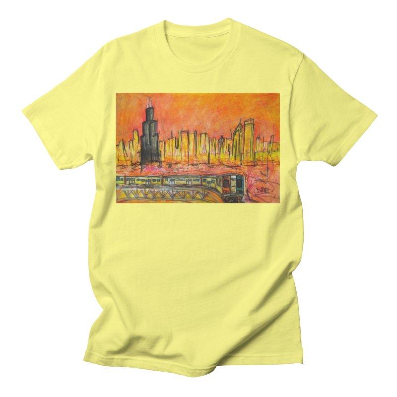 Elevated Under Chicago Men's T-Shirt by Brick Alley Studio's Artist Shop