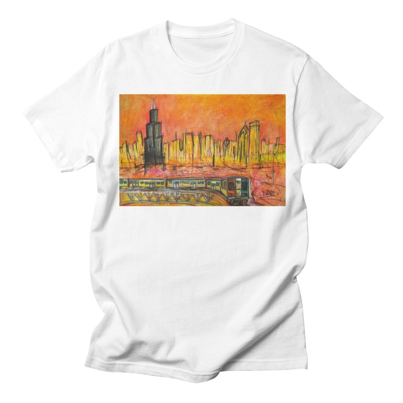 Elevated Under Chicago Men's T-Shirt by Brick Alley Studio's Artist Shop