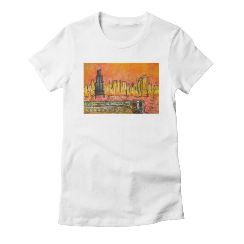 Elevated Under Chicago Women's Fitted T-Shirt by Brick Alley Studio's Artist Shop
