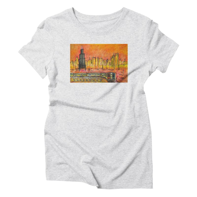 Elevated Under Chicago Women's Triblend T-Shirt by Brick Alley Studio's Artist Shop