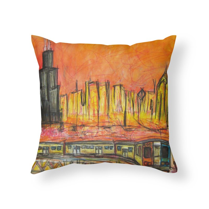 Elevated Under Chicago Home Throw Pillow by Brick Alley Studio's Artist Shop