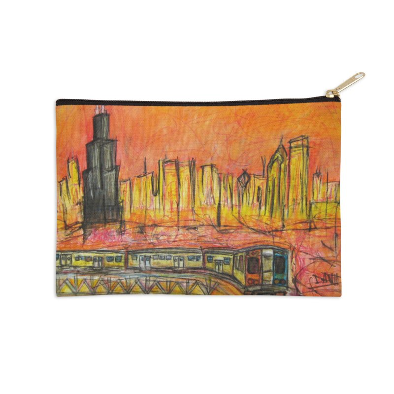 Elevated Under Chicago Accessories Zip Pouch by Brick Alley Studio's Artist Shop