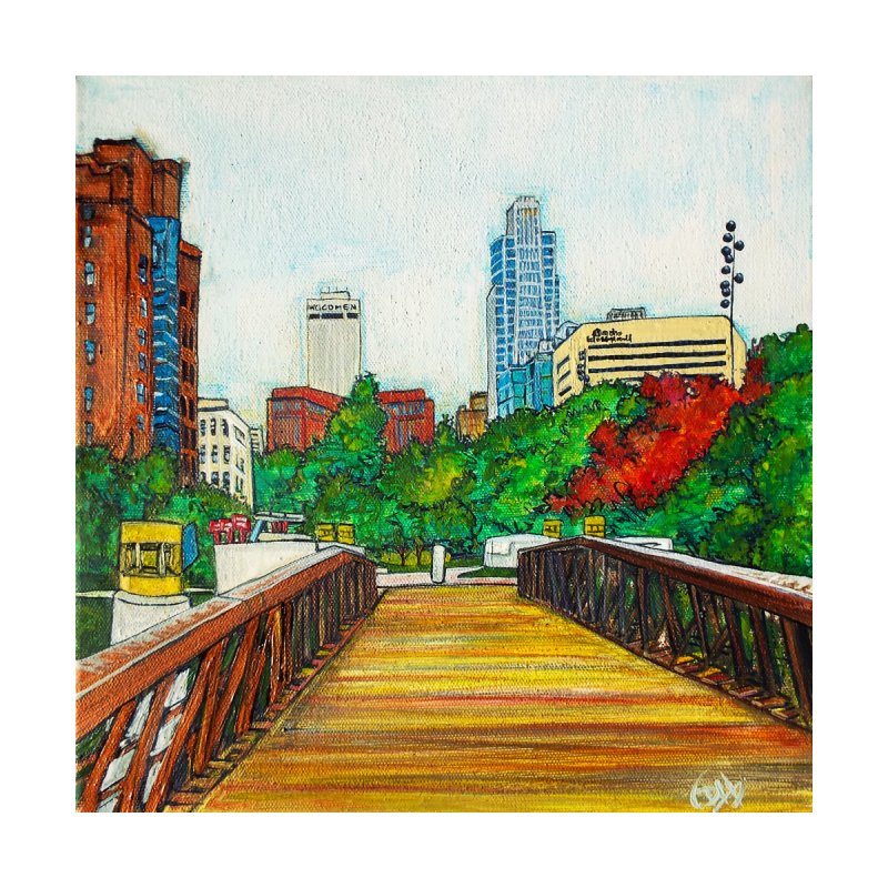 Bridge Over 8th Street Home Framed Fine Art Print by Brick Alley Studio's Artist Shop