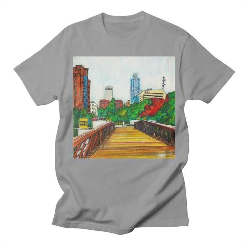 Bridge Over 8th Street Men's T-Shirt by Brick Alley Studio's Artist Shop