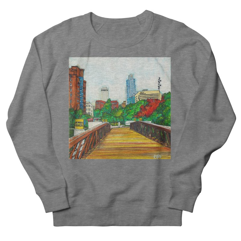 Bridge Over 8th Street Women's French Terry Sweatshirt by Brick Alley Studio's Artist Shop