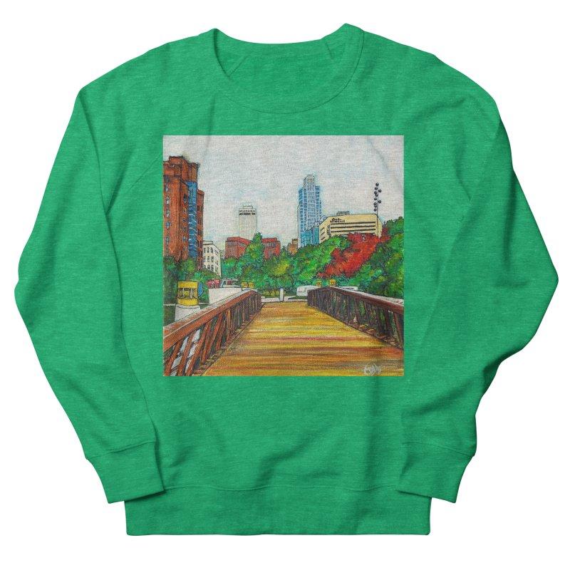 Bridge Over 8th Street Men's French Terry Sweatshirt by Brick Alley Studio's Artist Shop