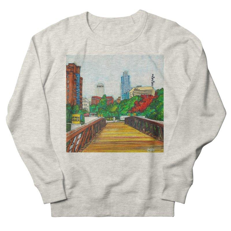 Bridge Over 8th Street Men's Sweatshirt by Brick Alley Studio's Artist Shop