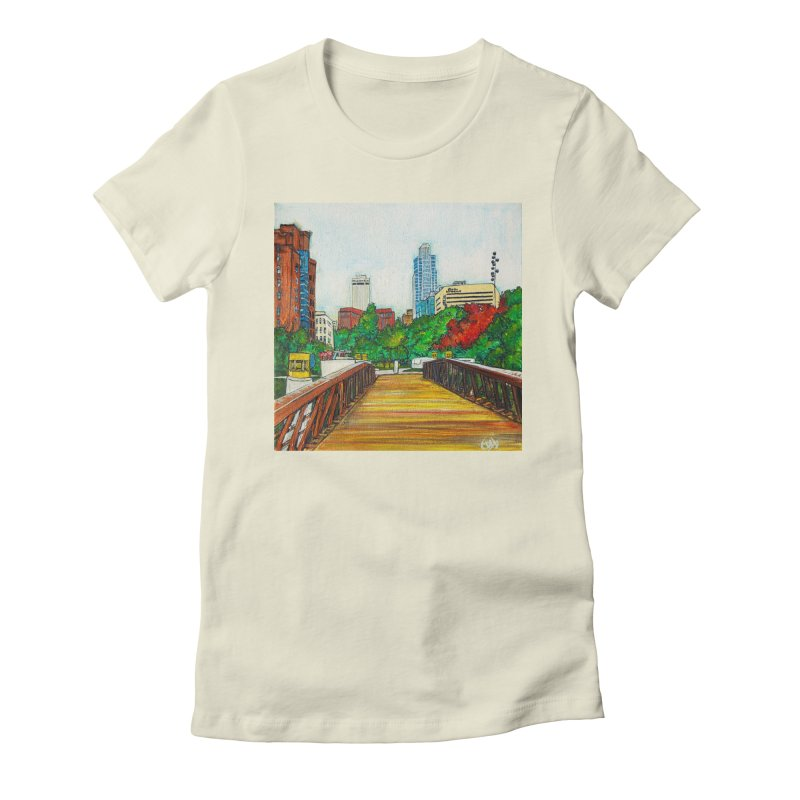 Bridge Over 8th Street Women's T-Shirt by Brick Alley Studio's Artist Shop