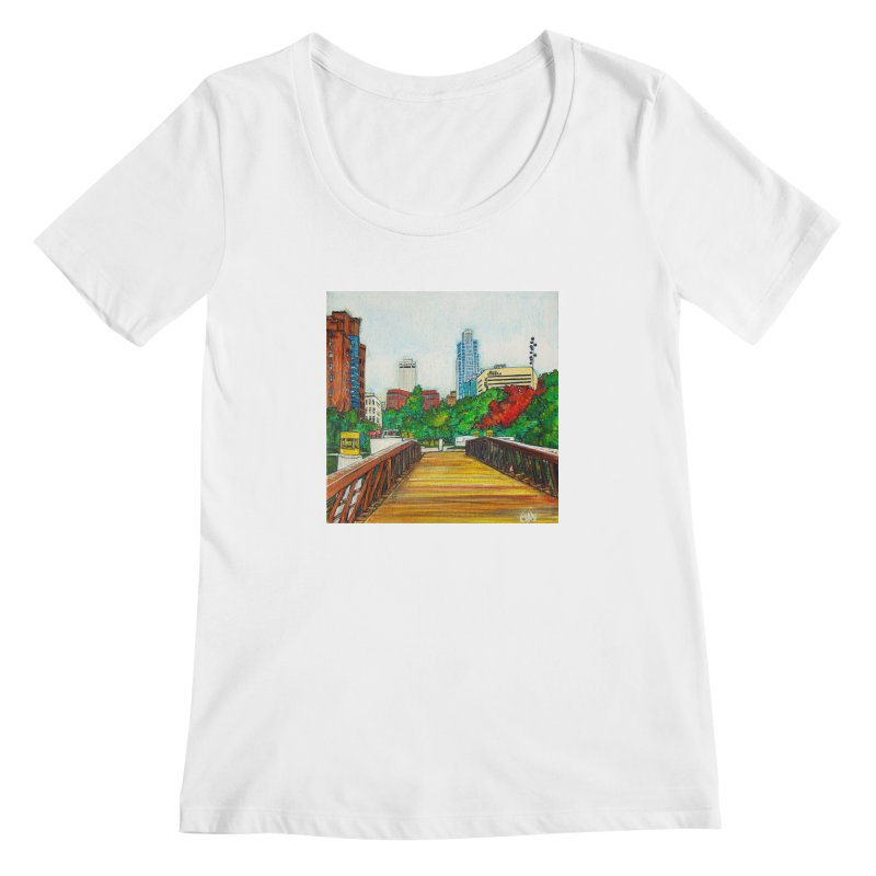 Bridge Over 8th Street Women's Scoopneck by Brick Alley Studio's Artist Shop