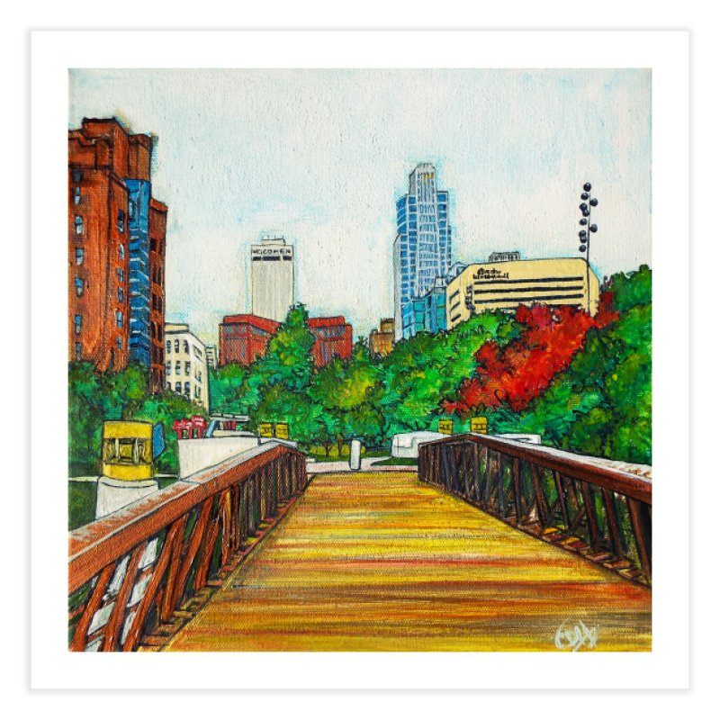 Bridge Over 8th Street Home Bath Mat by Brick Alley Studio's Artist Shop