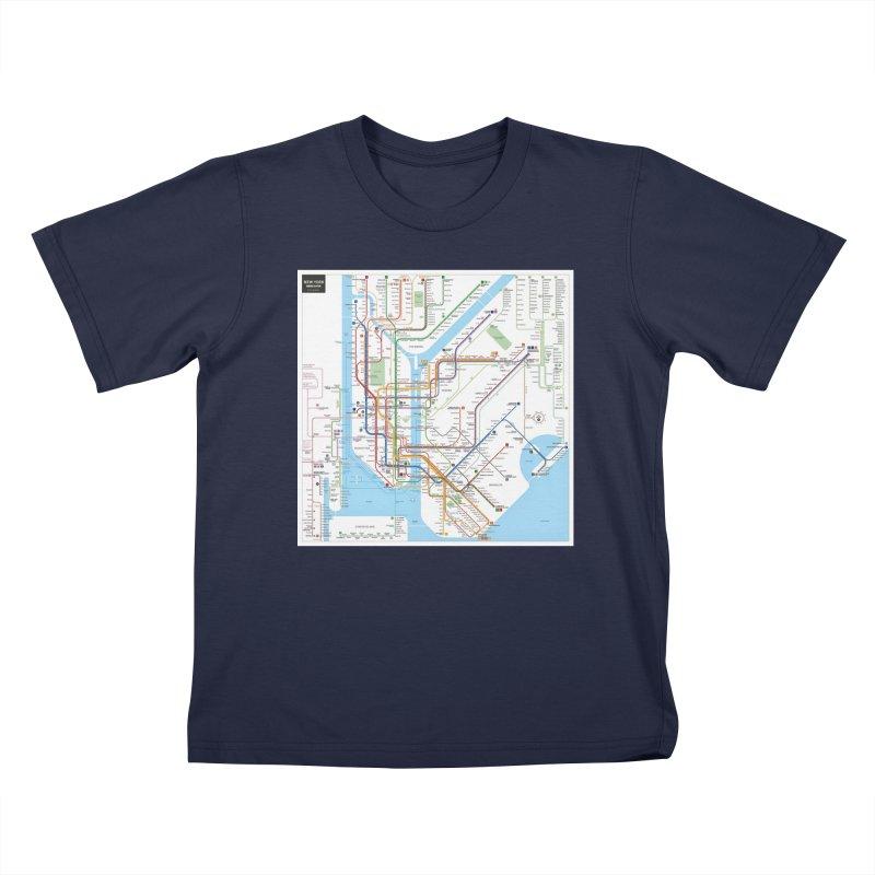 New York Subway Map Kids T-Shirt by BritishYank s Artist Shop 75716998f13