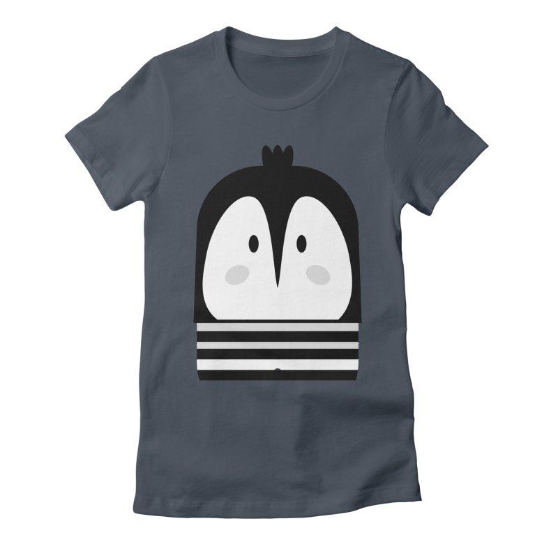 Penguin BW Women's T-Shirt by BrocoliArtprint