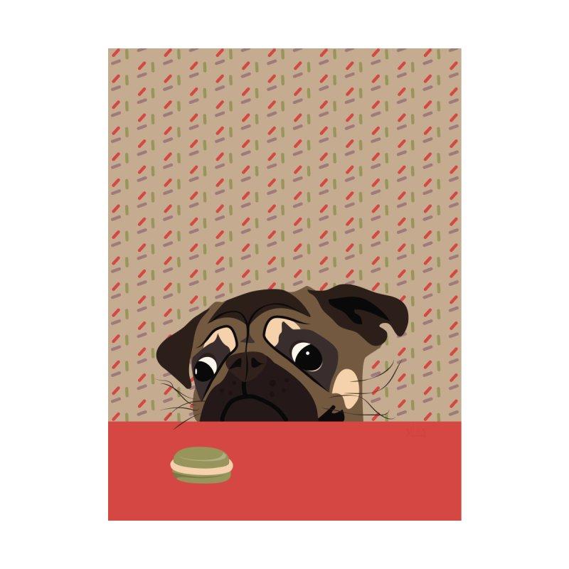 Le pug et le macaron Men's T-Shirt by BrocoliArtprint