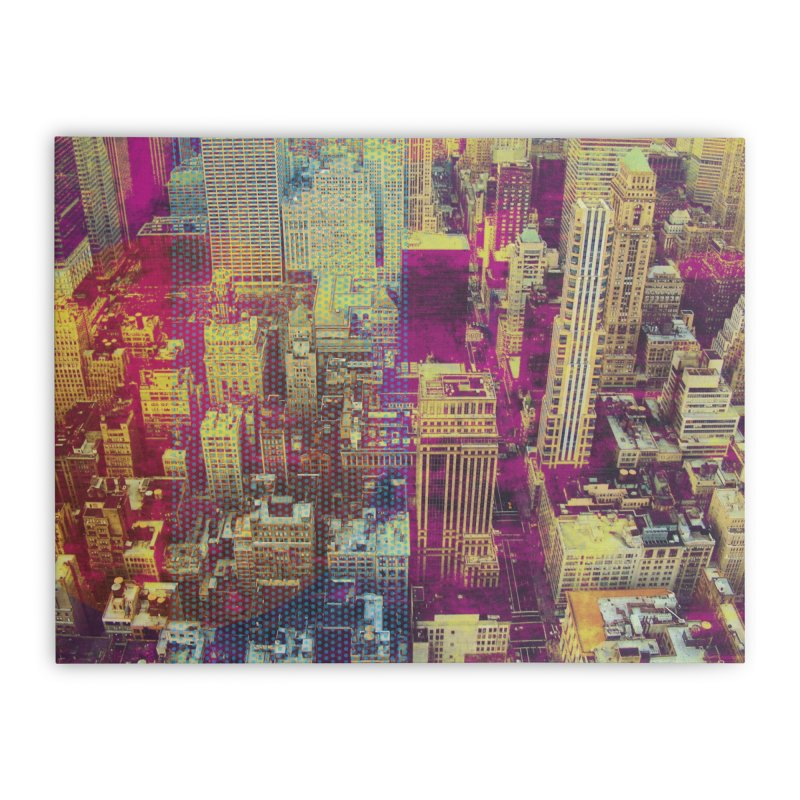 Pop New York City Home Stretched Canvas by BrocoliArtprint