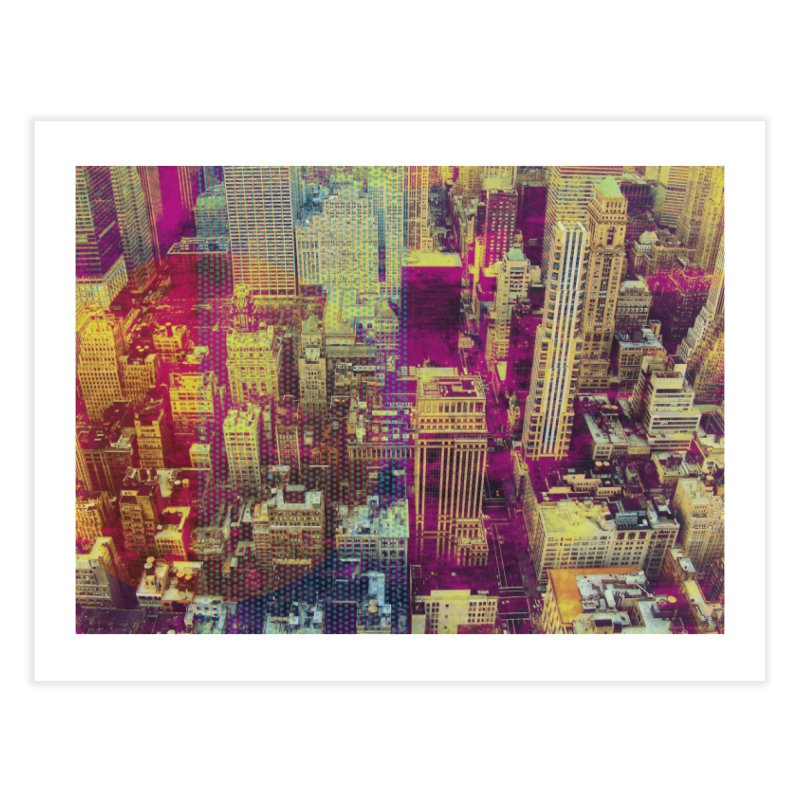 Pop New York City Home Fine Art Print by BrocoliArtprint