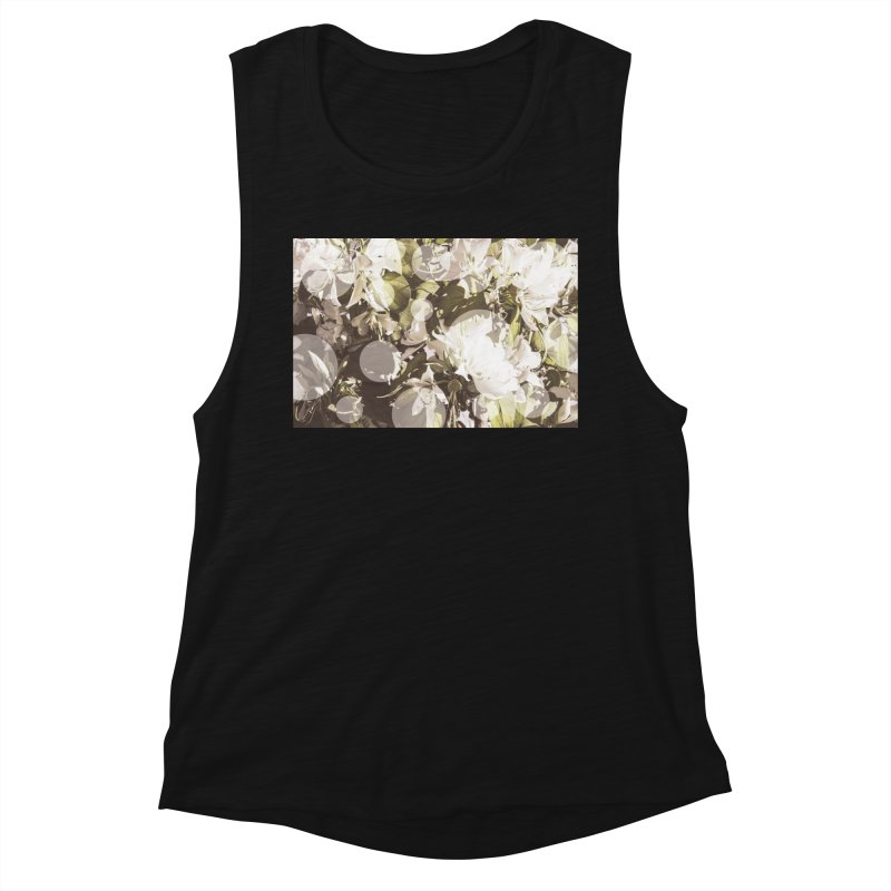 Flowers and Dots Women's Tank by BrocoliArtprint