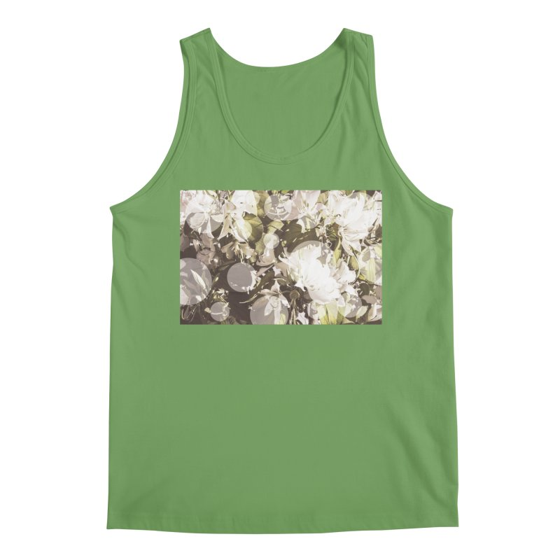 Flowers and Dots Men's Tank by BrocoliArtprint