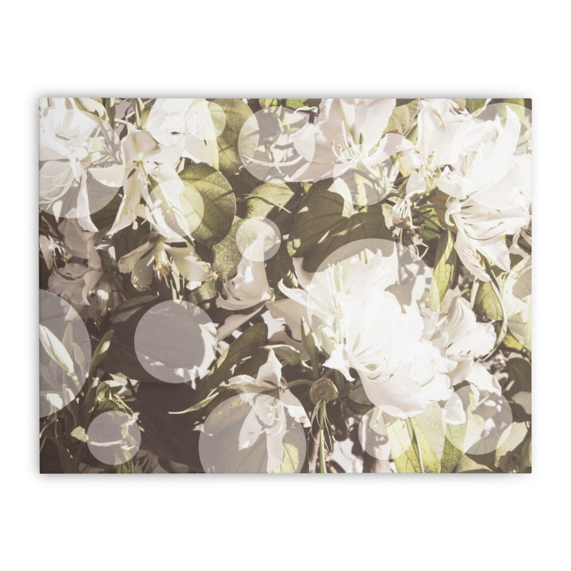 Flowers and Dots Home Stretched Canvas by BrocoliArtprint