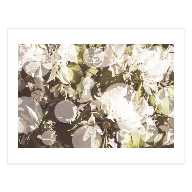 Flowers and Dots Home Fine Art Print by BrocoliArtprint