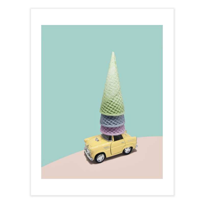 Driving Cones Home Fine Art Print by BrocoliArtprint