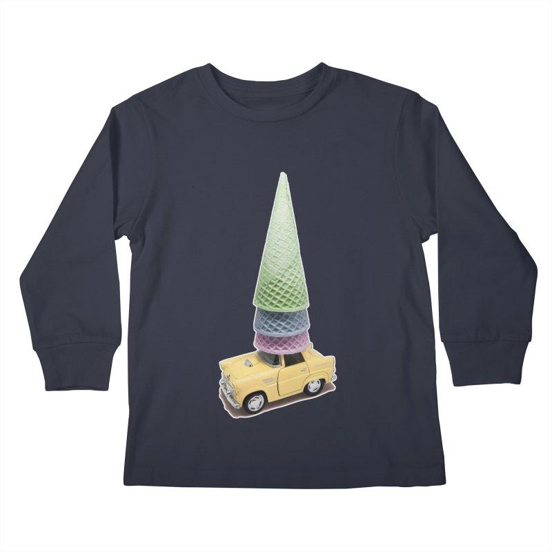 Driving Cones Kids Longsleeve T-Shirt by BrocoliArtprint