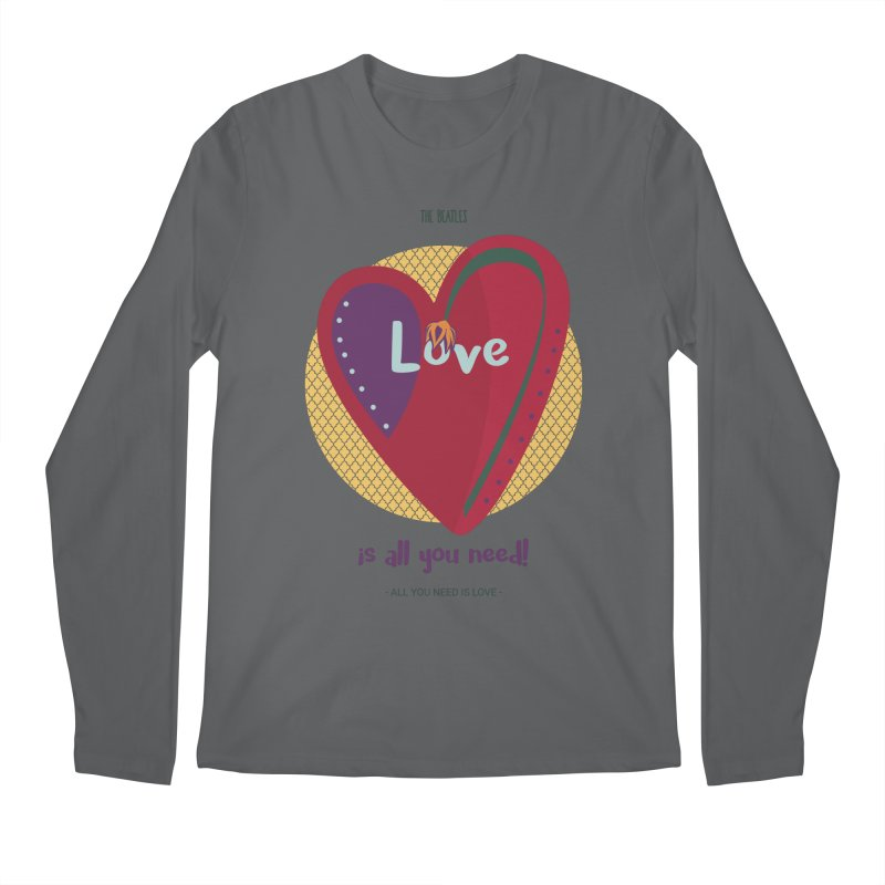 All you need is love Men's Longsleeve T-Shirt by BrocoliArtprint