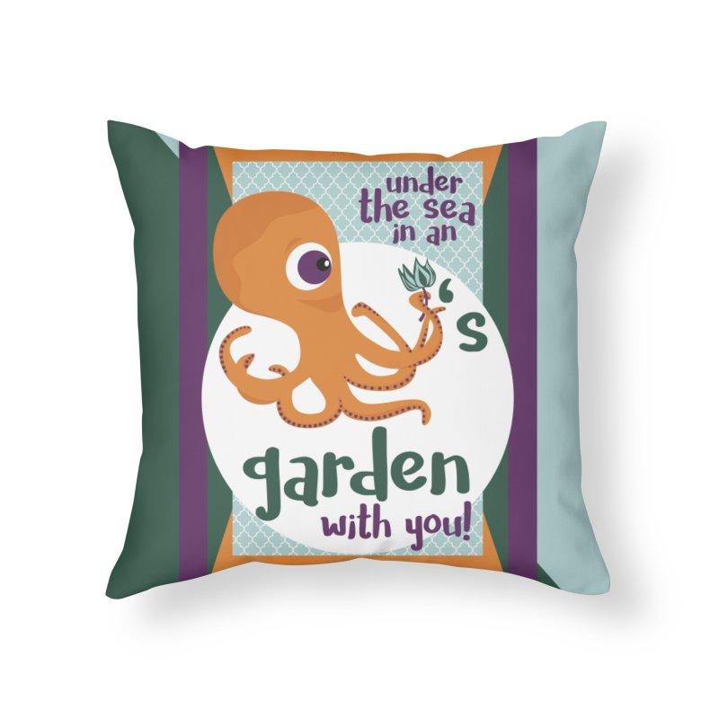 Octopus Garden Home Throw Pillow by BrocoliArtprint