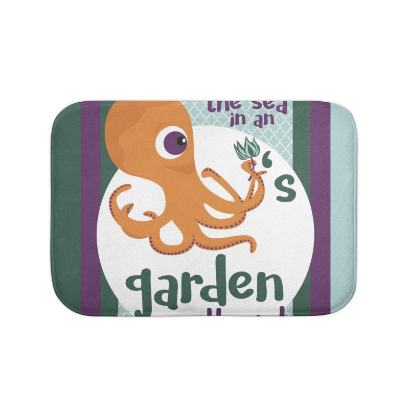 Octopus Garden Home Bath Mat by BrocoliArtprint
