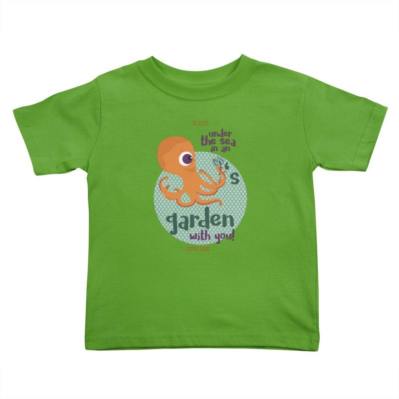 Octopus Garden Kids Toddler T-Shirt by BrocoliArtprint