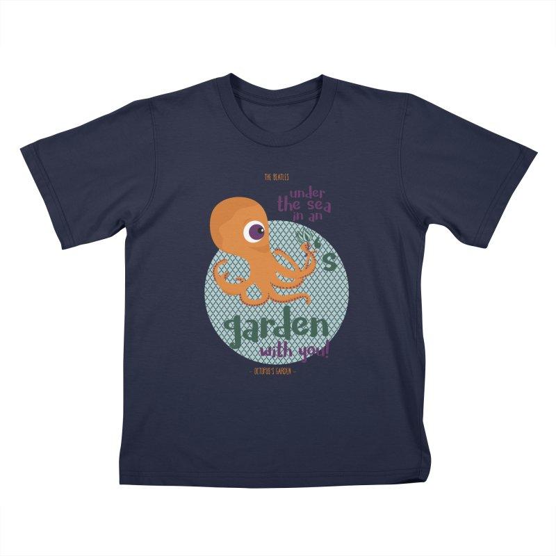 Octopus Garden Kids T-Shirt by BrocoliArtprint