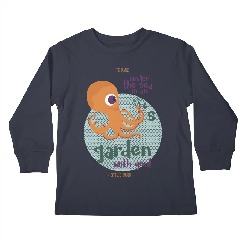 Octopus Garden Kids Longsleeve T-Shirt by BrocoliArtprint