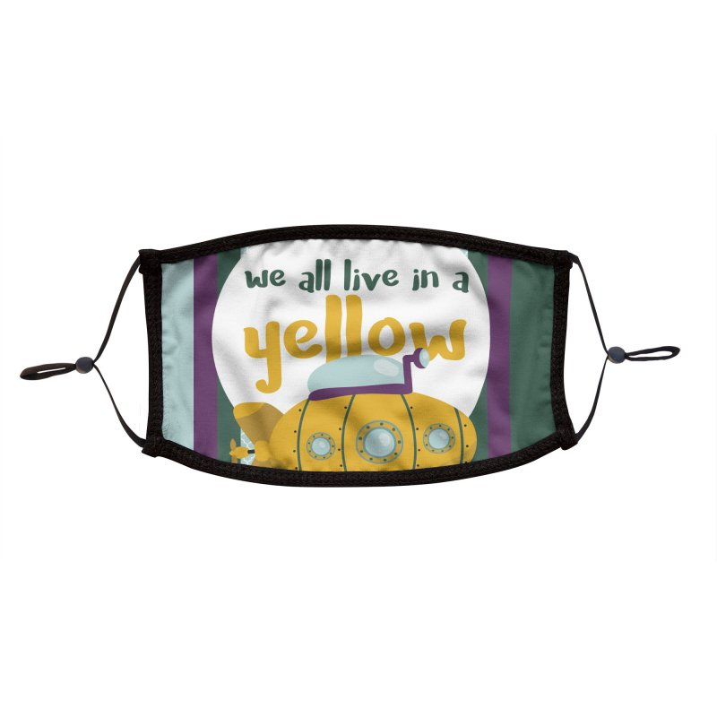 Yellow Submarine Accessories Face Mask by BrocoliArtprint