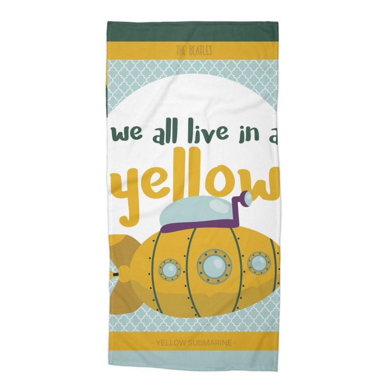 Yellow Submarine Accessories Beach Towel by BrocoliArtprint